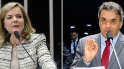 Gleisi e Aécio batem boca no Senado após discurso de Janaina