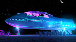 Un Boeing 747 transformé au festival Burning Man