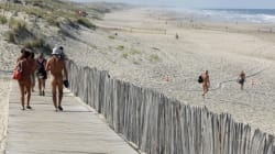 Bagarre entre des nudistes et des vacanciers habillés sur une plage
