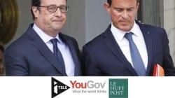 Valls aussi impopulaire que Hollande, Juppé