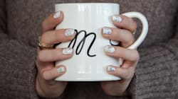 The Secret To This Trendy Nail Art Is Water And