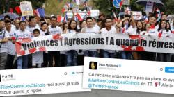 #JaiRienContreLesChinois indigne au lendemain de la manifestation contre le
