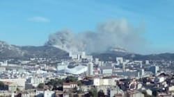 Violent départ d'incendie au sud de