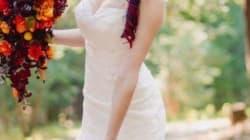 Cette robe de mariée colorée divise