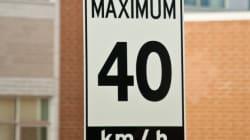 La vitesse sera réduite à 40 km/h sur le Plateau et dans