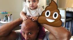 The Rock a fait un discours important à sa fille, qui a répondu en lui faisant caca