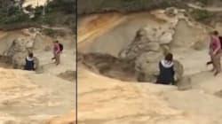 L'hommage des internautes à un célèbre rocher