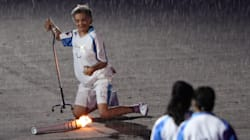 Torchbearer Who Fell Shows The World What Paralympics Are All