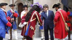 Esta foto de Puigdemont ha causado mucha sensación (y bromas) en