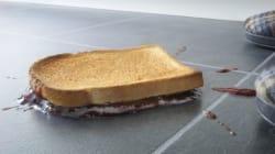 Les aliments tombés au sol sont contaminés instantanément