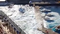 Ce gros paquebot a complètement détruit une petite marina