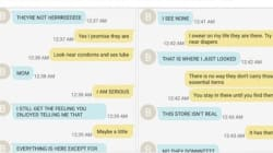 Teen Hilariously Texts Mom As She Looks For 'Feminine