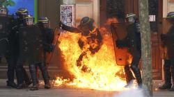 Un CRS brûlé à une jambe dans la manif anti-loi Travail à