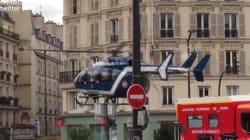 Un hélicoptère dans les rues de Paris pour évacuer un CRS
