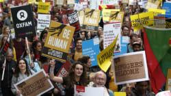 Près de 20 000 personnes marchent à Londres pour l'accueil des