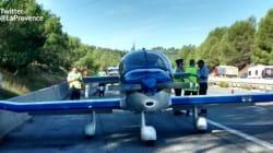Un avion en difficulté s'est posé sur une autoroute du