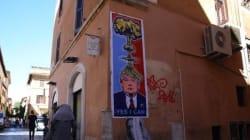 La street art porta Trump a Roma, l'effetto è