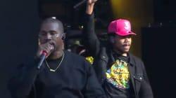 Il a suffi d'une apparition surprise de Kanye West pour que le stade soit