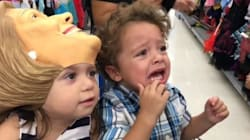 Toddler's Reaction To Trump Mask Is Every