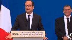 À Dammartin-en-Goële, Hollande a apprécié cette référence à Bob