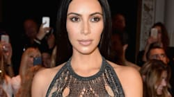 Kim Kardashian Wears Threads Held Loosely Together As A