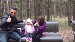 Silly Dad Has Best Trick To Keep Kids Warm This