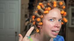 NO, NO, NO. This Girl Did NOT Just Curl Her Hair With