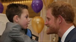 Little Boy Uses All His Strength To Give Prince Harry Sweetest
