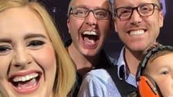 Adele prend un selfie avec le plus chanceux des