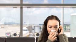 Se vi ammalate dopo un viaggio in aereo non è colpa dell'aria