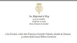 Críticas del alcalde de Zamora a esta invitación de la Casa