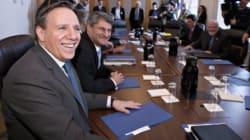 Premier caucus pour les députés de la CAQ et François