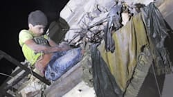 Video Shows Syrian Boy In 'Don't Shoot' Shirt Hanging From Bombed