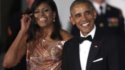 Michelle Obama, impresionante en la última cena de estado de