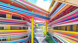 Cette école multicolore nous donne envie d'aller