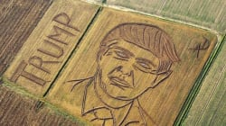 Artist Carves Trump's Face Into Giant Corn