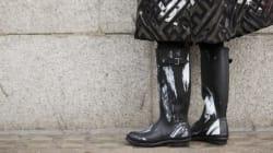 Des bottes pour faire face à la pluie avec