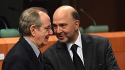 Parola d'ordine, acqua sul fuoco. Fra Moscovici e Padoan incontro