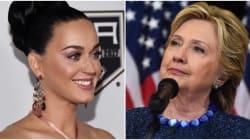Katy Perry se déguise en Hillary pour