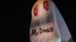 【ハロウィン】バーガーキングがマクドナルドのおばけに変装しちゃった(画像)