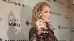 Céline Dion émouvante en acceptant le prix pour