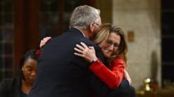 Trade Minister Hugs Conservative Predecessor To Mark CETA