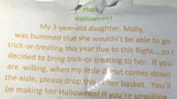 Glorious Dad Gave Out Candy On Plane So Daughter Could
