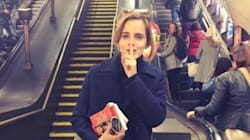 Emma Watson è la fatina dei libri della metropolitana di Londra (per una buona