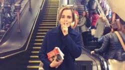Por que Emma Watson escondeu 100 livros feministas no metrô de