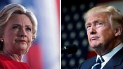 Clinton et Trump à l'opposé jusqu'au