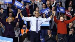 Barack, Michelle et Bill pour un gigantesque meeting de soutien à Hillary