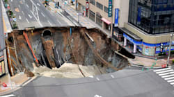 That Giant Sinkhole In Japan Might Be Sinking
