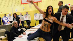 Des Femen aux poitrines découvertes arrêtées dans le bureau où Trump a