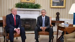 Barack Obama reçoit Donald Trump dans le Bureau